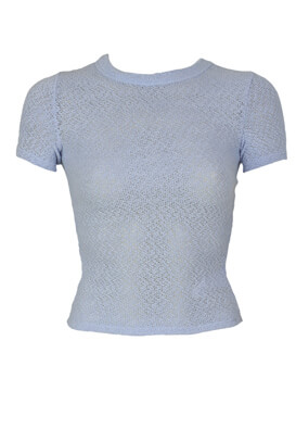 Tricou Bershka Sarah Light Blue