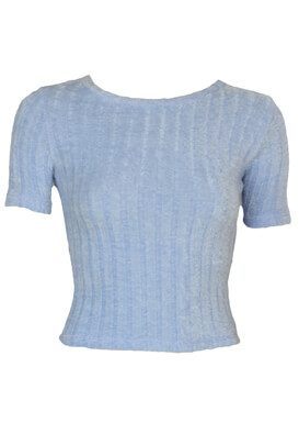 Tricou Bershka Wendy Light Blue