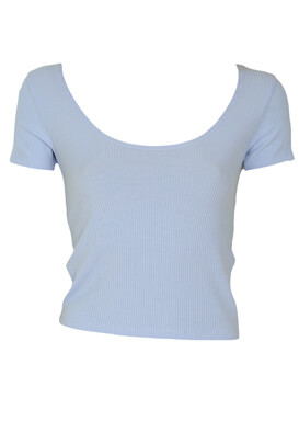 Tricou Stradivarius Lara Light Blue