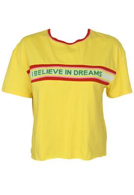 Tricou Bershka Carrie Yellow