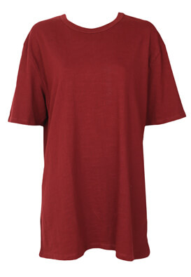 Tricou Pull and Bear Olivia Dark Red