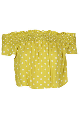 Top Pull and Bear Whitney Dark Yellow