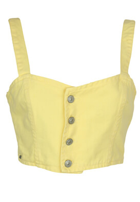 Top Pull and Bear Samantha Light Yellow