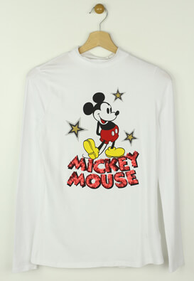 Bluza Reserved Mickey Mouse White