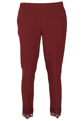 Pantaloni Reserved Maya Dark Red