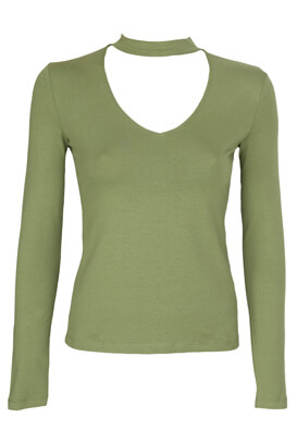 Bluza Pull and Bear Ramona Dark Green