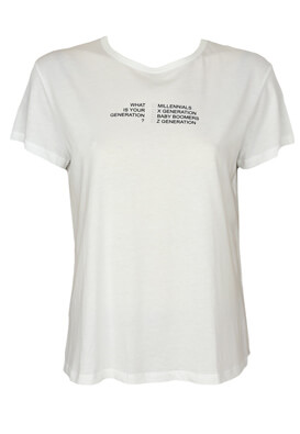Tricou ZARA Kelly White
