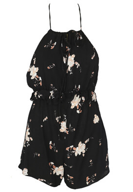 Salopeta Pull and Bear Floral Black