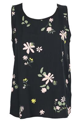 Tricou Jacqueline de Yong Floral Black