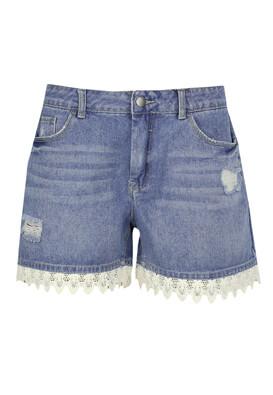 Pantaloni scurti Jacqueline de Yong Fiona Blue