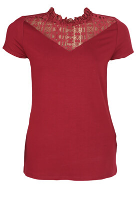 Tricou Orsay Pamela Dark Red