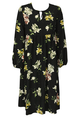 Rochie Amalie and Amber Floral Black
