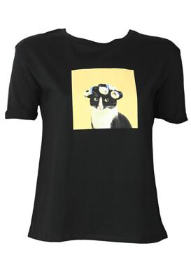 Tricou ZARA Kitty Black