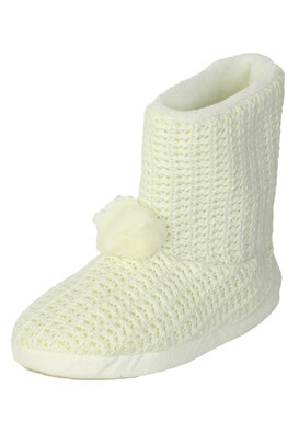 Papuci de casa MO Ivy White
