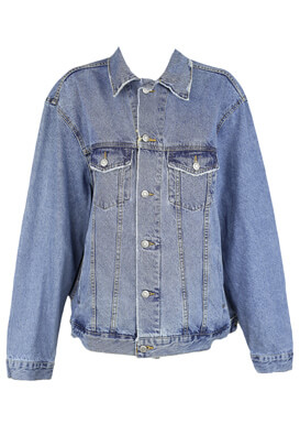 Geaca blugi Pull and Bear Sylvie Blue
