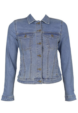 Geaca blugi Bershka Victoria Light Blue