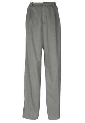 Pantaloni de stofa ZARA Alexandra Dark Grey