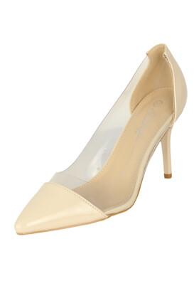 Pantofi Lovit Brenda Light Beige