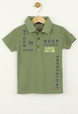 Tricou polo Djdutchjeans Chas Dark Green