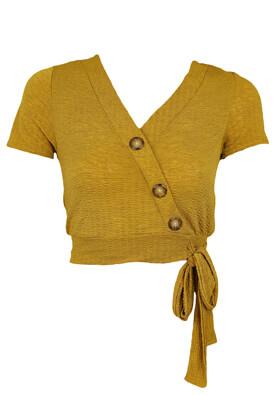 Top Pull and Bear Rebecca Dark Yellow