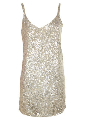 Rochie Pull and Bear Shine Golden