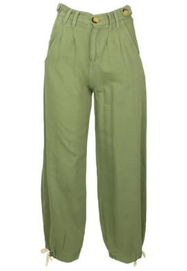 Pantaloni Bershka Nicole Dark Green