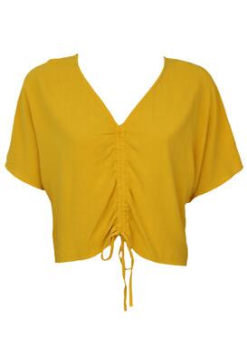 Tricou Bershka Hailey Dark Yellow