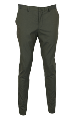 Pantaloni de stofa Selected Kirk Dark Green