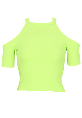 Tricou Bershka Irene Light Green