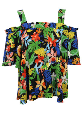 Tricou Stradivarius Floral Colors