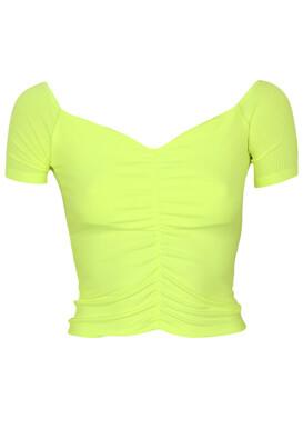 Tricou Bershka Gina Light Green