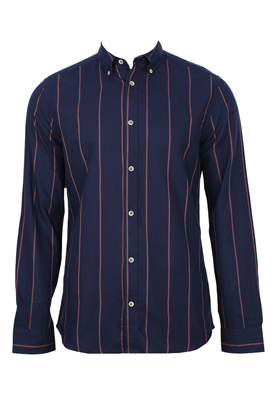 Camasa Only and Sons Petra Dark Blue