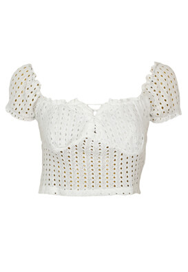Top Bershka Hanna White