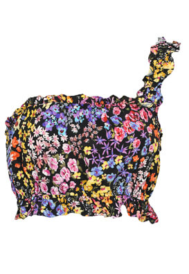 Top Bershka Floral Colors