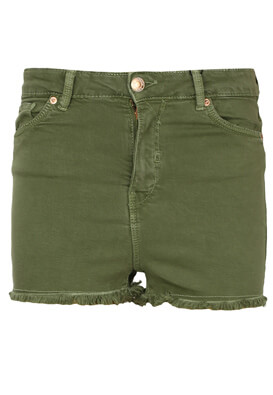 Pantaloni scurti Bershka Shelley Dark Green