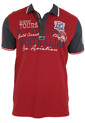 Tricou polo Ebound Eric Dark Red