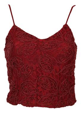 Top Jennyfer Francesca Dark Red
