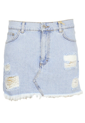 Fusta Pull and Bear Taylor Light Blue