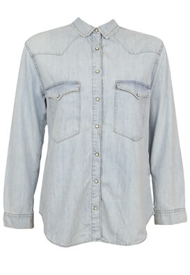 Camasa Pull and Bear Evelyn Light Blue