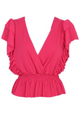 Tricou ZARA Alexandra Dark Pink