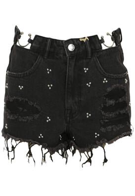 Pantaloni scurti Pull and Bear Ashley Black