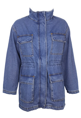Geaca blugi Pull and Bear Amber Dark Blue