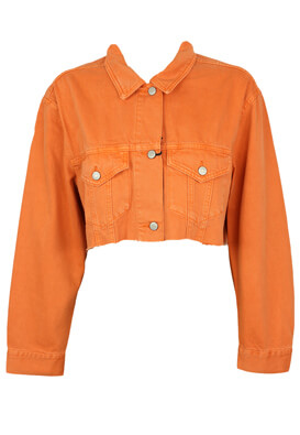 Geaca blugi Pull and Bear Kora Orange