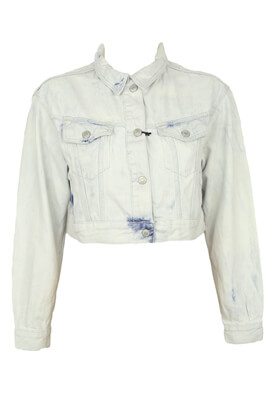 Geaca blugi Pull and Bear Selena Light Blue