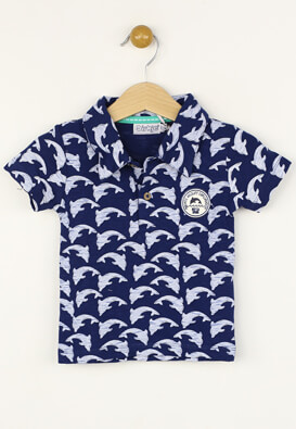 Tricou polo Dirkje David Dark Blue