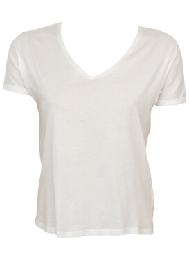 Tricou Pull and Bear Basic White
