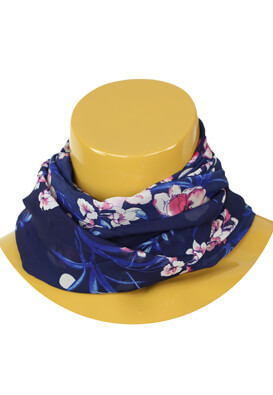 Esarfa Orsay Floral Dark Blue