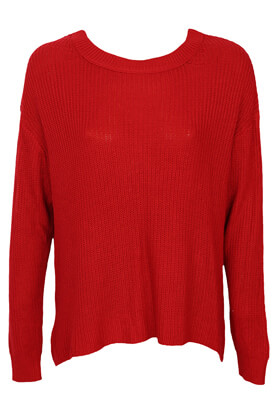 Pulover Pull and Bear Francesca Red