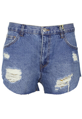 Pantaloni scurti Pull and Bear Laura Blue