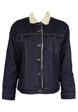 Geaca blugi Pull and Bear Kitty Dark Blue